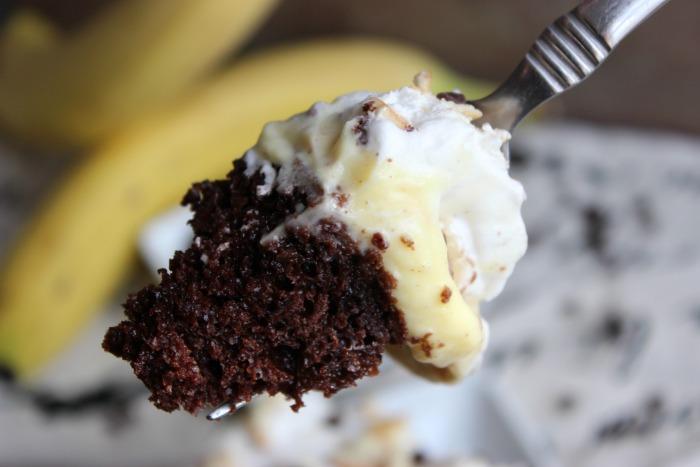Chocolate Banana Poke Cake | BigBearsWife.com