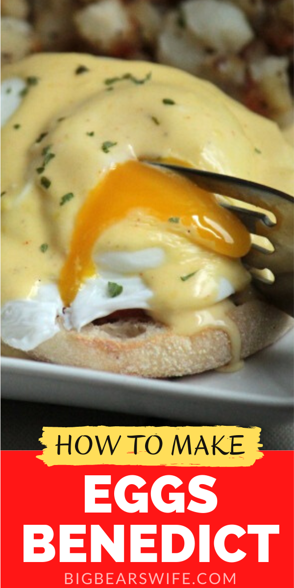 Ready to make your own Eggs Benedict at home for breakfast or brunch? I've got all the directions you need! I love making this at home!