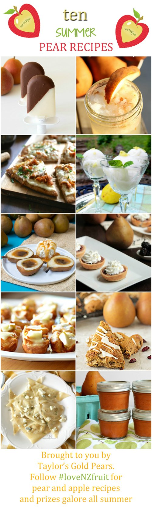 Mini Pear and Blackberry Pies PLUS TEN AMAZING SUMMER PEAR RECIPES #loveNZfruit