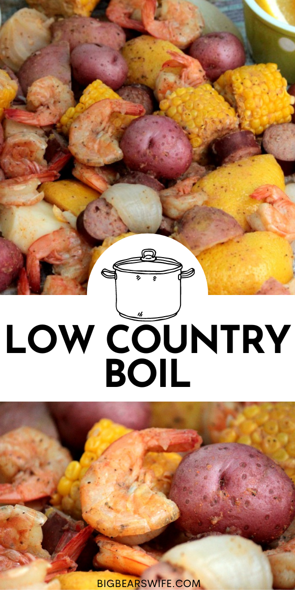 This easy Low Country Boil is a southern favorite! Low Country Boil is made with red potatoes, corn, andouille sausage, shrimp, onions and old bay seasoning!  via @bigbearswife
