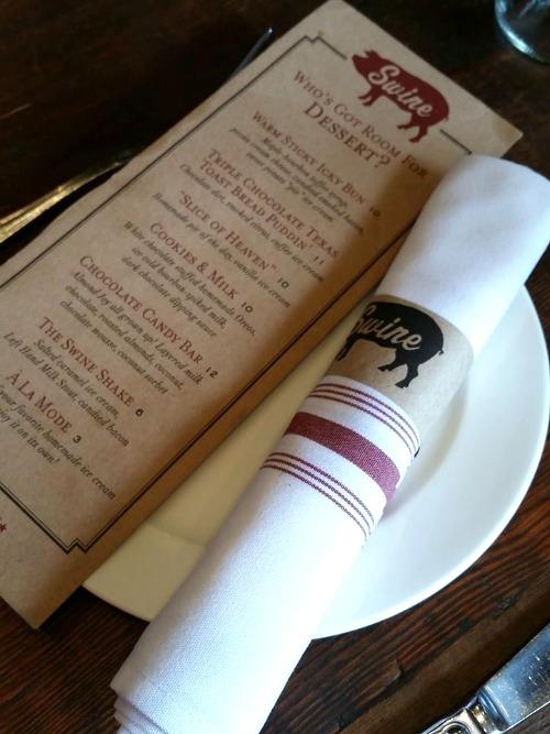 Dessert Menu -- Swine Southern Table & Bar - Miami, Florida