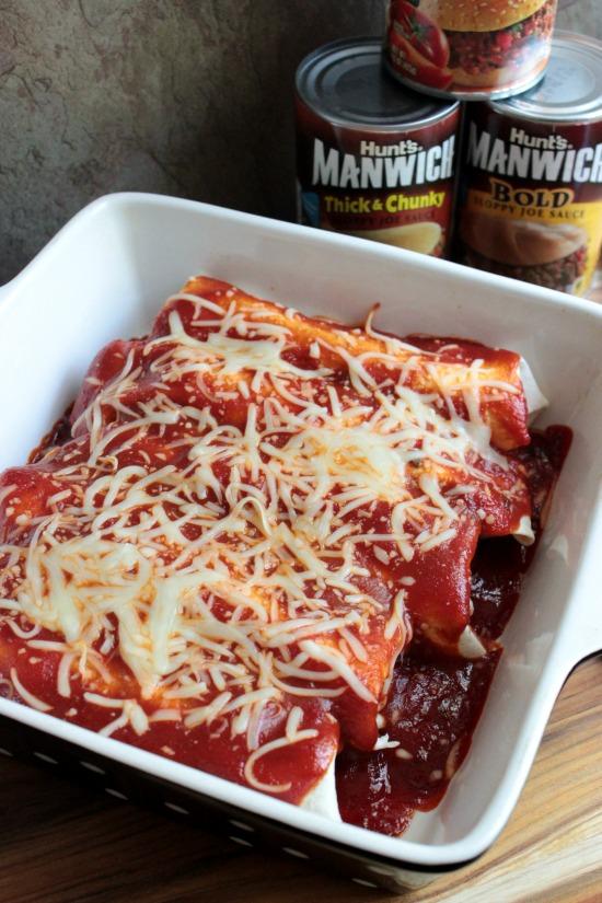 Baked Manwich Burritos #Manwich