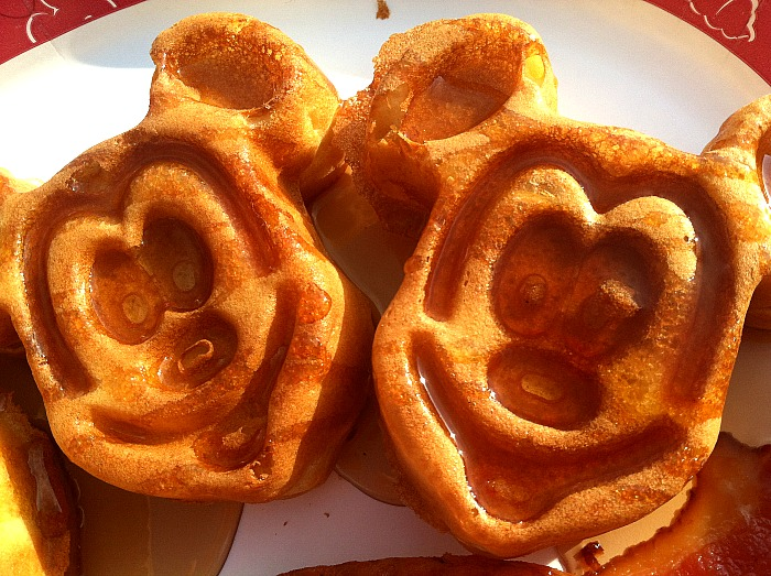 Mickey Mouse Waffles on the patio at Disney's Grand Floridian Resort & Spa