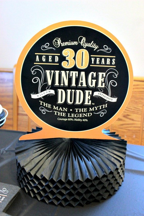 30th Birthday Party Decorations Inside Out Peppermint Patty Cake - Vintage Dude Birthday Cake - Vintage Dude 30th Birthday Celebration