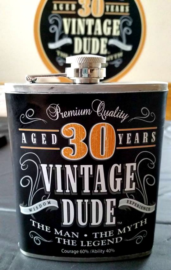 Flask Inside Out Peppermint Patty Cake - Vintage Dude Birthday Cake - Vintage Dude 30th Birthday Celebration
