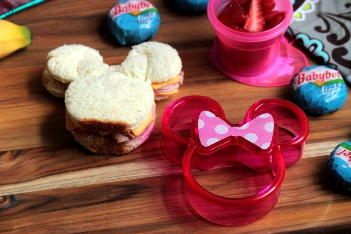 Ham and Cheese Minnie Mouse Sandwich - Kendra's Lunch Idea - Healthy Back to School Lunch Ideas