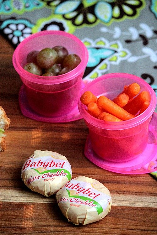 Grapes, Carrots and White Cheddar BabyBel - Alyssa's Lunch Idea - Healthy Back to School Lunch Ideas