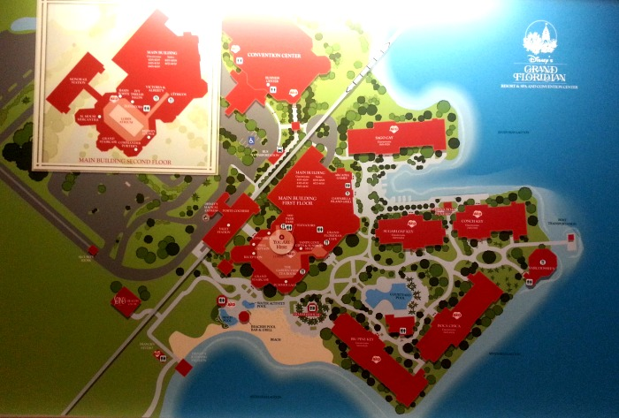 Map of Disney's Grand Floridian Resort & Spa