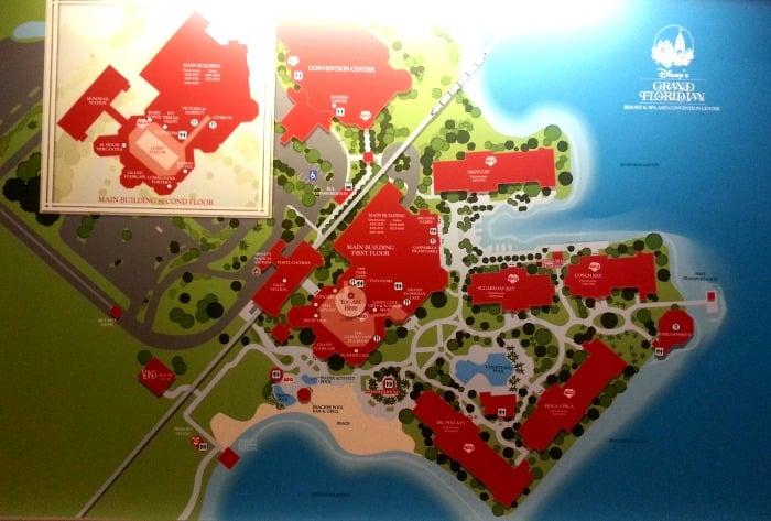 Map of Disney's Grand Floridian Resort & Spa