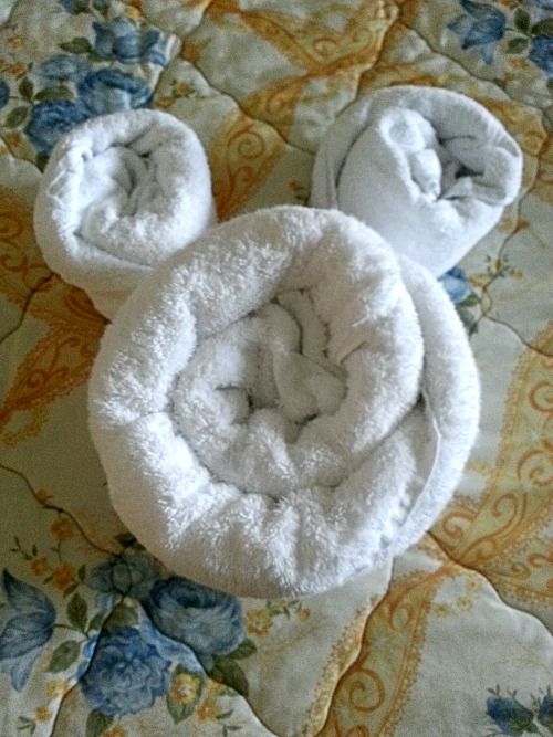 Mickey Towel in our Room at Disney's Grand Floridian Resort & Spa