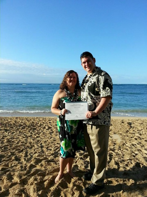 In Waikiki with BigBear Celebrating 7 years of Marriage - Renewing Our Vowels in Hawaii