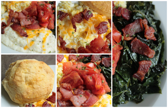 What's in BigBear's Perfect Grits and Greens Breakfast Bowl?