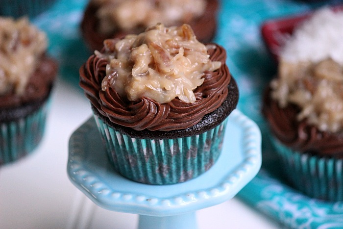 Probably the best cupcakes that I've ever made! German Chocolate Cupcakes