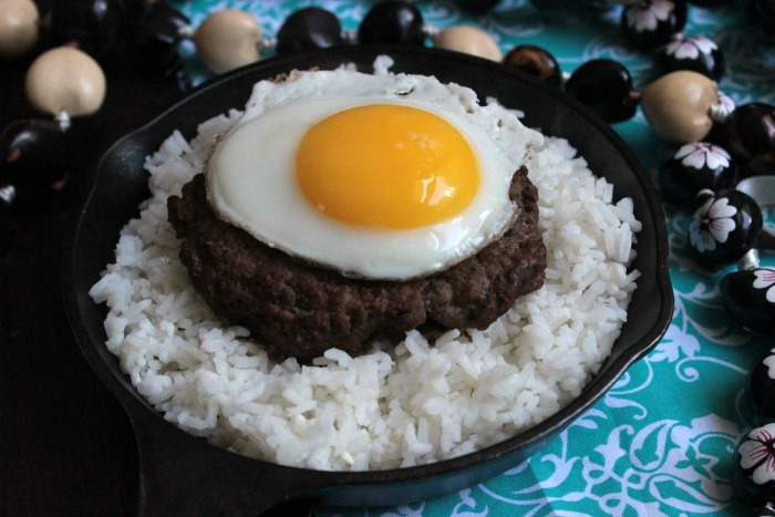 Loco Moco before the Gravy