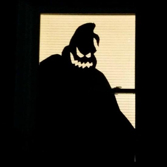 oogey Boogey window drawing at night
