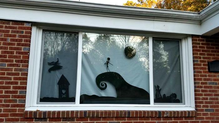 Nightmare Before Christmas Window Design