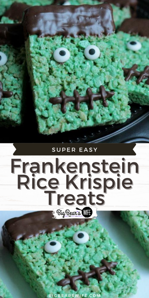 Frankenstein is ready for his close up! Frankenstein Rice Krispie Treats will be sure to bring the party to life!