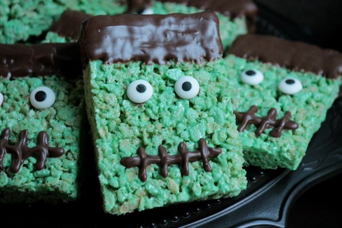 Frankenstein Rice Krispie Treats - Big Bear\'s Wife