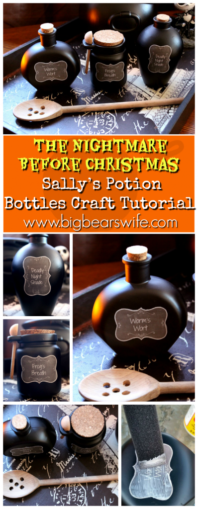 How to Make Sally's Potion Bottles from The Nightmare Before Christmas – Worms Wort, Frog's Breath and Deadly Night Shade