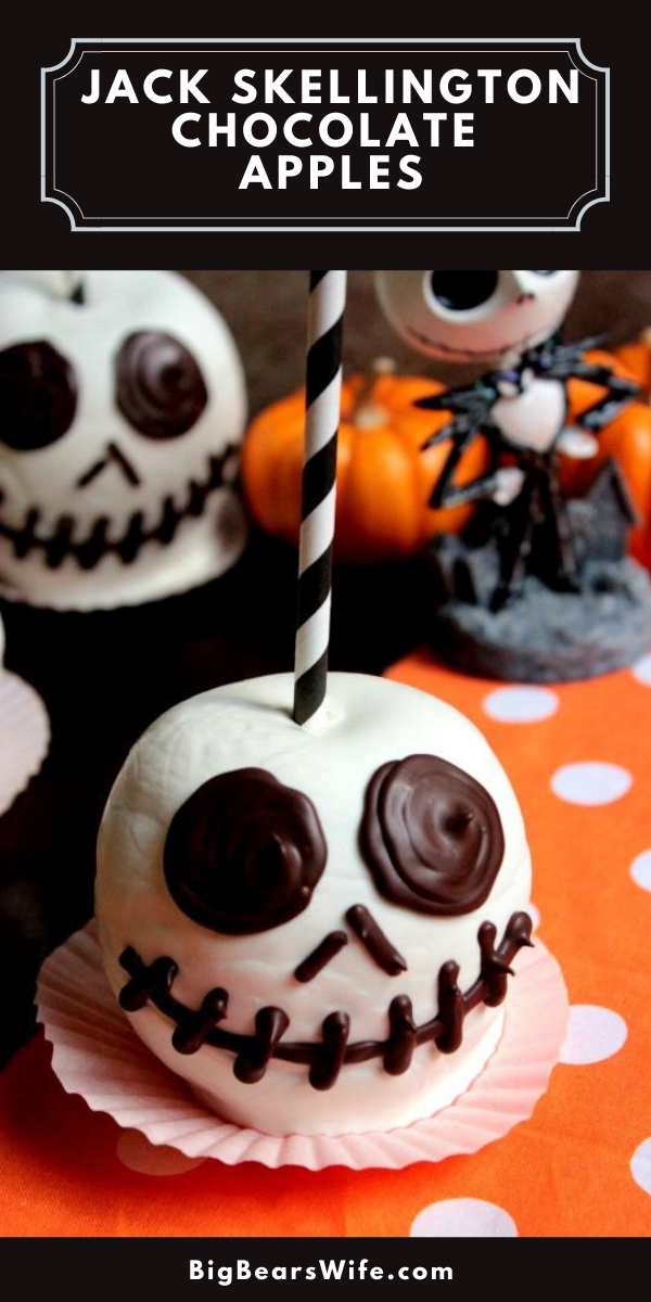 These Jack Skellington Chocolate Apples are so easy to make and perfect for Halloween!