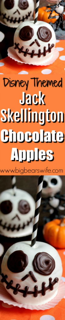 Jack Skellington Chocolate Apples - Chocolate Covered Apples - The Pumpkin King is ready for Halloween with these Jack Skellington Chocolate Apples!