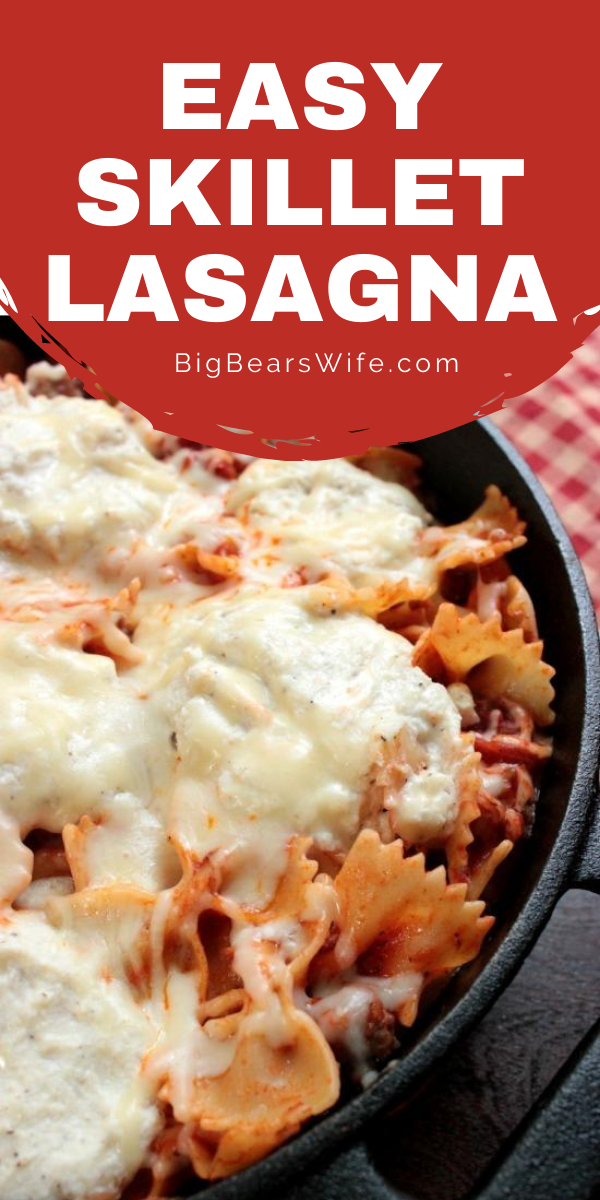 Super Easy Skillet Lasagna - This Super Easy Skillet Lasagna will be a new family favorite and it only takes 30 minutes to make.