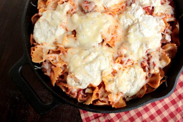 Super Easy Skillet Lasagna
