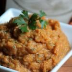 Pumpkin Sage Mashed Sweet Potatoes #plantprotein