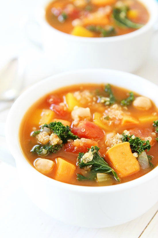 Fall Vegetable Quinoa Soup from Two Peas and Their Pod