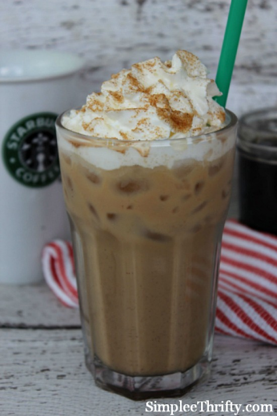 Iced Cinnamon Dolce Latte from Simplee Thrifty