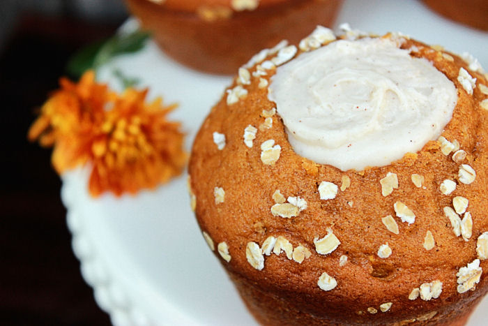 Pumpkin Cream Cheese Muffins from BigBearsWife