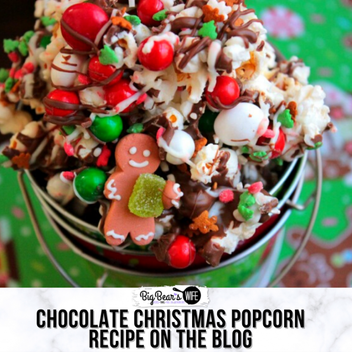 Chocolate Christmas Popcorn