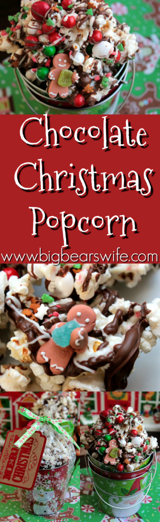 Chocolate Christmas Popcorn