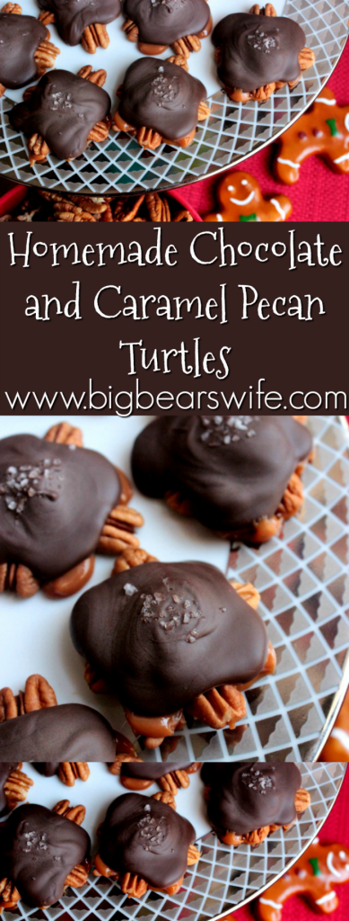Homemade Chocolate and Caramel Pecan Turtles