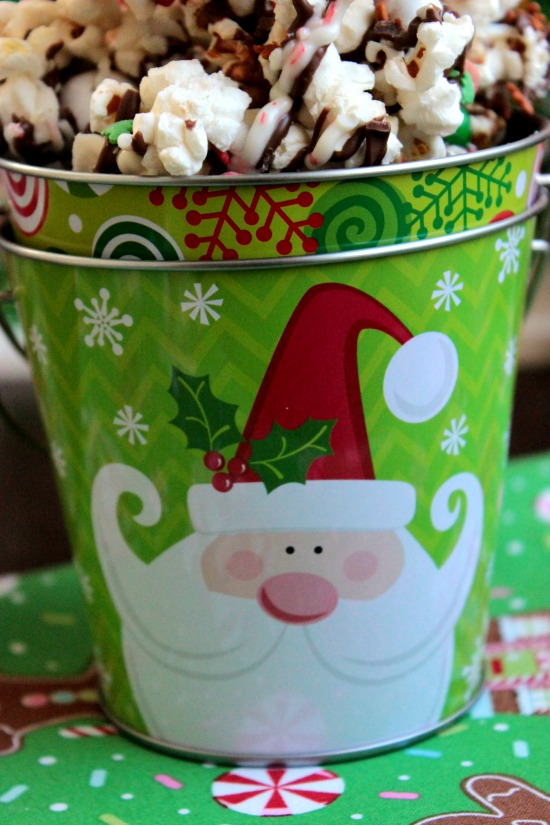 Chocolate Christmas Popcorn - Pail