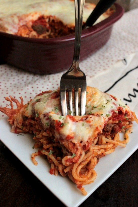 Mom Approved – Spaghetti Sandwich Bake