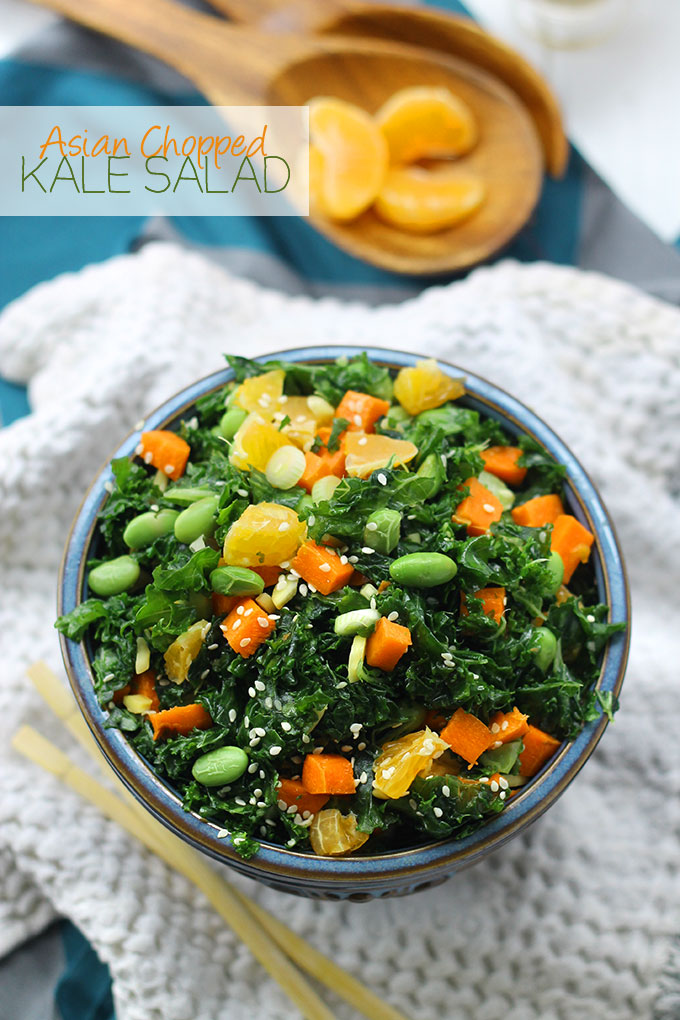 Asian Chopped Kale Salad  from The Healthy Maven
