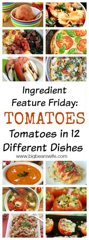Ingredient Feature Friday: Tomatoes - Tomatoes in 12 Different Dishes