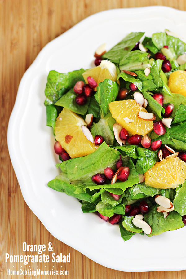 Orange and Pomegranate Salad  from Home Cooking Memories