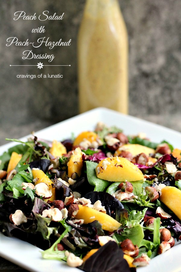 Peach Salad with Peach-Hazelnut Dressing from Cravings of a Lunatic