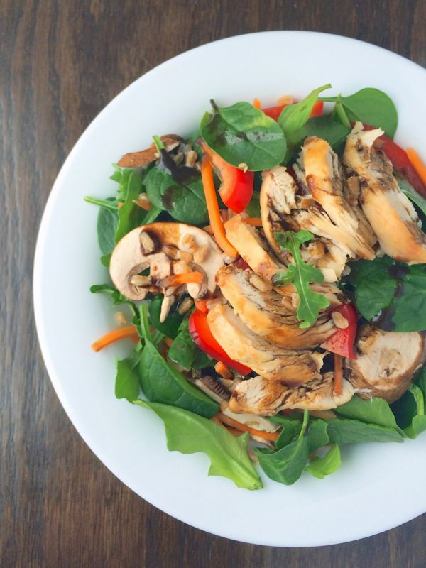 Spinach Power Salad with Chicken and Farro from The Lemon Bowl
