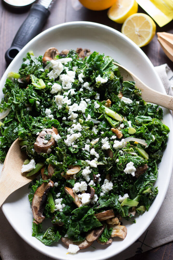 Wilted Kale Salad  from Lemons for LuLu