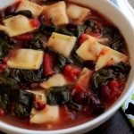Spinach and Black Bean Ravioletti Soup #SundaySupper