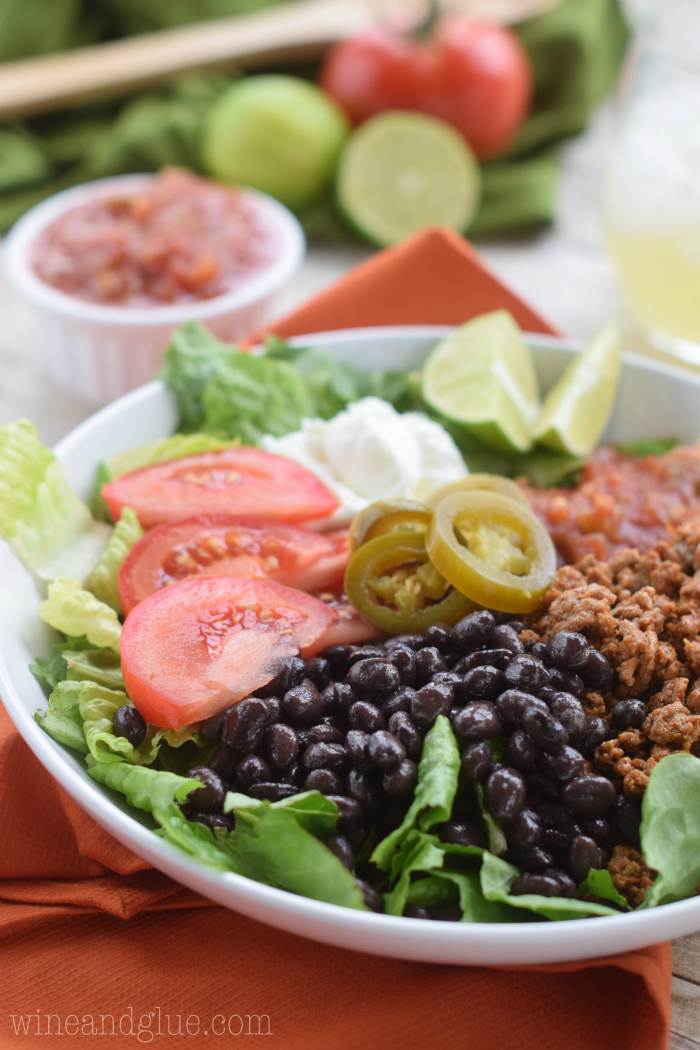 Healthy Taco Salad from Wine and Glue