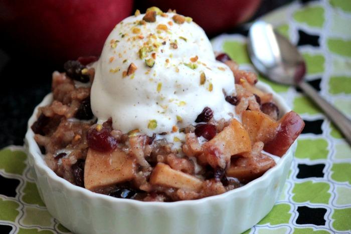 Apple Cinnamon Dessert Risotto #RubyFrost