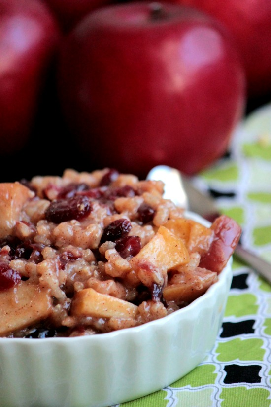 Apple Cinnamon Dessert Risotto #RubyFrost