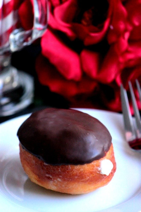 Chocolate Dipped Cream Filled Doughnuts #12bloggers