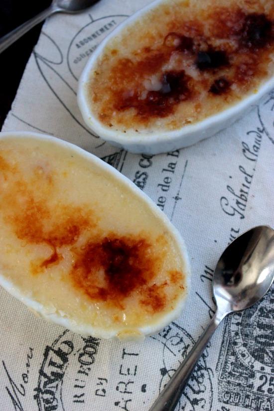 Crème Brûlée with a Chocolate Ganache Bottom #VanillaWeek