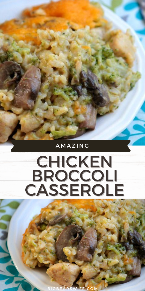 This Chicken Broccoli Casserole is a cheesy chicken casserole that's based on our favorite family casserole, Cheesy Broccoli Casserole.