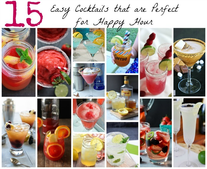 15 Easy Cocktails that are Perfect for Happy Hour